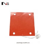silicone rubber heater with holes