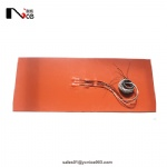 Industrial silicone heating pad with thermocouple