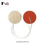 Round silicone rubber heater with 3M adhesive backside